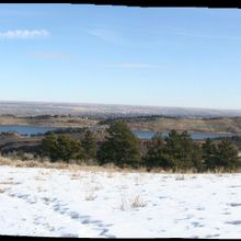 View of Fort Collins and Horsetooth Reservoir from Lory State Park