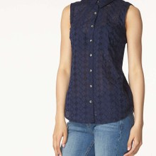 Embroidered buttoned shirt  manufactured for Dorothy Perkins
