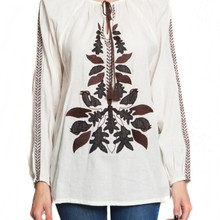 AGA embroidered blouse manufactured for AntikBatik