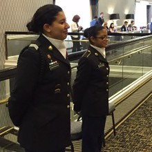 Cadet Barriero (left) and Cadet Salinas (right)