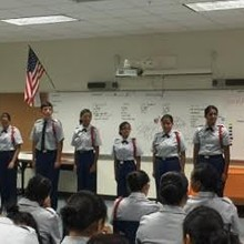 Cadets that made starting drill team