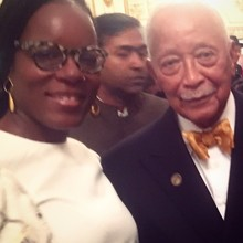 Founder Jennifer Heslop with the Honorable Mayor David Dinkins