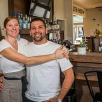 Owner/ Exec Chef Erin keller and Owner/ GM Jose Cortez