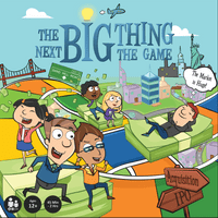 Front of Box, The Next Big Thing, The Game of Entrepreneurship, Startup Board Game