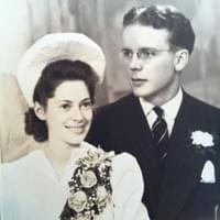 Bobby and Grace on their wedding day