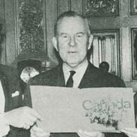 With Prime MInister Lester B. Pearson in 1967 (Warrender, Ottawa)