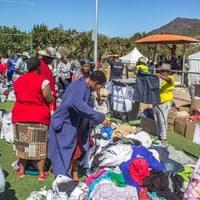 Clothing is just one of the items provided for the people affected by the fire.