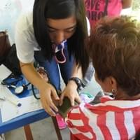 BP taking during our first medical mission with SDA