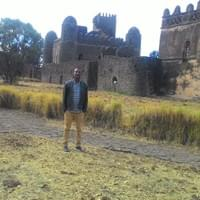 Me at the Castle Compound of Gondar