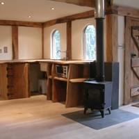 inside a oak cottage