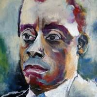 James Baldwin, acrylic