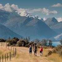 View at the head of the lake Glenorchy area