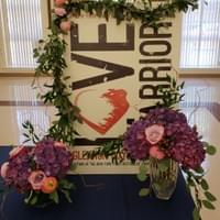 Flowers for book signing event