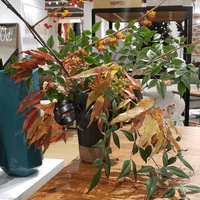 Fall floral arrangement for retail