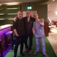 With Sonny Landreth and Hank Shizzoe after the John Hiatt gig in Zurich, July 2018 !