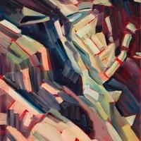 Painting Home - Taos Gorge 11x20 oil and wax on recycled panel