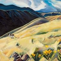 "Angus of the Chukar Hills 24""x 36"" Oil on panel"
