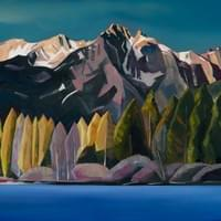 "Redfish Lake - July 25th, 2014 30""x48"" Oil and wax on panel, 2014 SOLD"