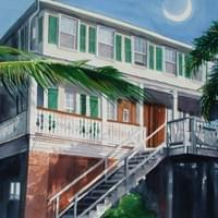 Beach House on the Moon 22x30