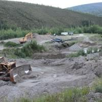 Contemporary gold mining in the Klondike goldfields. 2015.