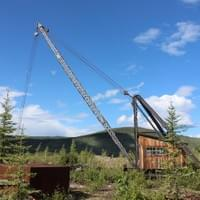 Crane at Bear Creek. Dawson City, 2015.