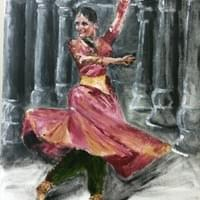 Kathak Dancer in Cave