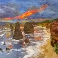 Sunset on twelve Apostles