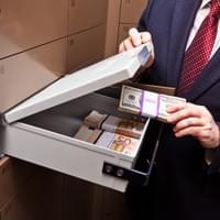medium sized safe deposit box