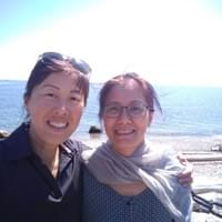 Sonia Tan and Eileen Han reunion in 2019 with Shifu shining down. c.2019