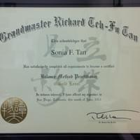 Dr. Sonia F. Tan, DAOM, RAc, RTCMP - Gold level certification from Dr. Richard Tehfu Tan, OMD, LAc