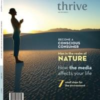 thrive magazine cover and spine design