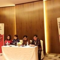 Press conference, from left : Ibu Katharine Grace (Vice Chairwoman ICSA), Ibu Theresia Rustandi (Secretary General ICSA), Pak Hardijanto Saroso (Chairman of ICSA), Dr. Tan Wee Liang (Chairman of ACSN), 2 Nov 2017