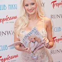 Holly Madison attends her Runway Magazine cover Release event.