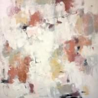 "Peaches and Cream - 48""x48"""