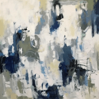 "Living in Blue Jeans - 48""x48"""