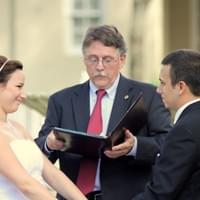 Stephen officiated many weddings, this one for his beautiful niece Caitlin and her husband Dylan.