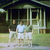 The Johnson brothers in front of the family home on Corona Street, Winston-Salem