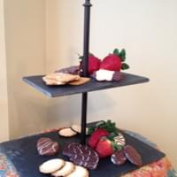 Reclaimed Slate Double Serving Dish