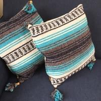 Pillows from reclaimed Mexican blankets