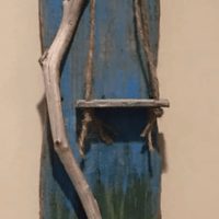Driftwood Painting with Swing