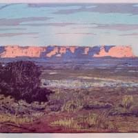 "White Rim at Sunset - 8"" x 12"""