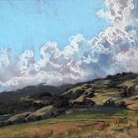 "Sonoma Foothills with Clouds  - 14"" x 10"""