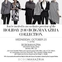 Daniella Peters Hosts Holiday 2010 BCBG MaxAzria Collection