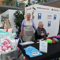 Louise and Ann, two of our Petal and Purl Crafters.