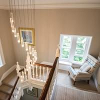 The Elmfield's Top floor landing with snazzy chandelier