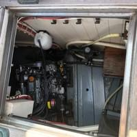 view of engine from cockpit