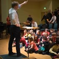 Artistic director James Day in action