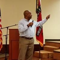 Sep16 - McHudson Theodore gestures during SAME  Luncheon