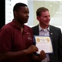 Ezekiel Copeland receives Scholarship July 2016