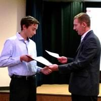 Justin Abresch receives Scholarship July 2016